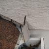 "Diverter or ""kickout"" flashing at the termination of a roof/wall connection will direct water into the gutter instead of allowing it to flow down the exterior of the building.  The only improvement that I would like to see is caulking where the flashing exits the siding."